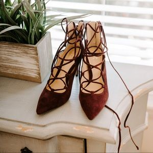 Vince Camuto Lace Up Heels Size 4.5